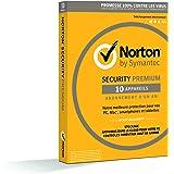 Symantec - Norton Security Premium 2018 | 1 An | 10 Appareils | PC/Mac/Android/iOS | Téléchargement