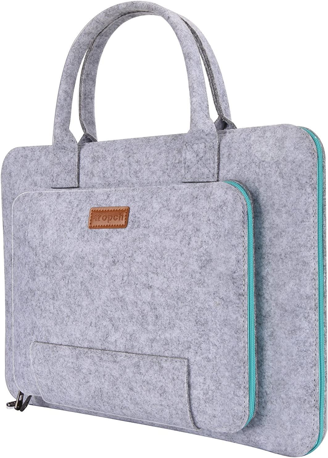Ropch 15.6-Inch Felt Laptop Sleeve Handle Notebook Computer Carrying Case Bag Pouch Compatible with 15