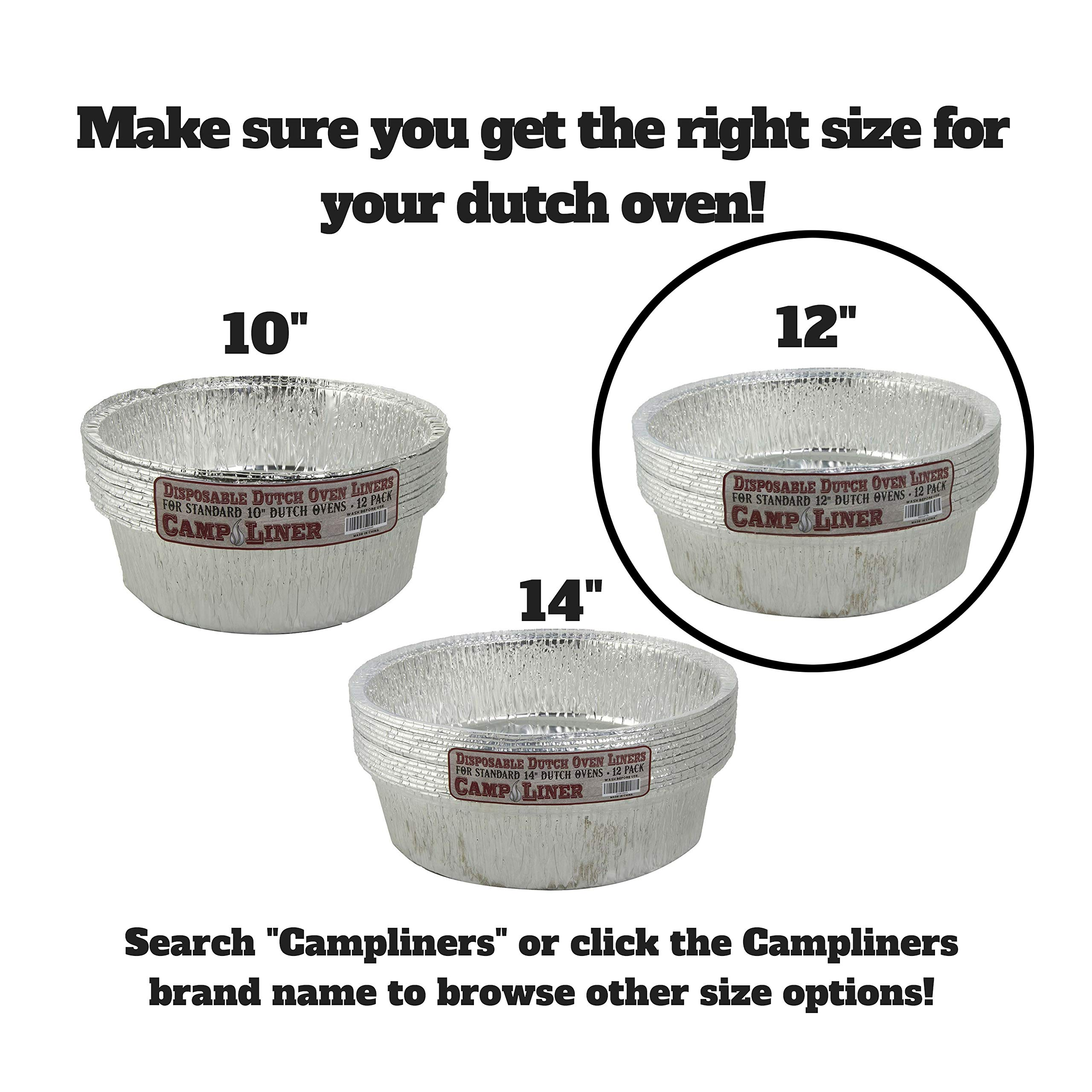 Campliner Original Dutch Oven Liners, 30 Pack of 12-Inch 6-Quart Disposable Liners - No More Cleaning Or Seasoning Your Dutch Ovens. Fits Lodge, Camp Chef, and Other 12'' Cast Iron Dutch Ovens by CAMP LINER (Image #4)