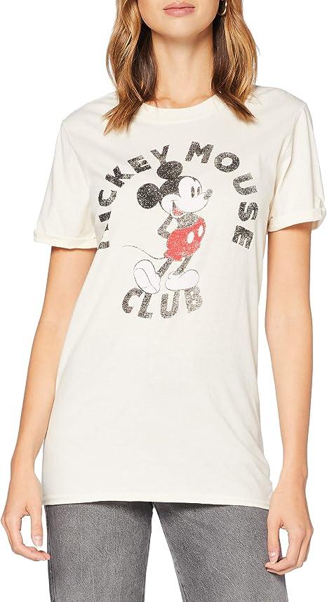 TALLA S. Disney Mickey Club Camiseta para Mujer