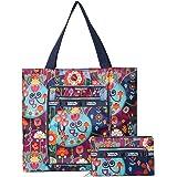 Womens Foldable Nylon Large Lightweight Tote Bag Shoulder Bag Handbag for Gym Hiking Picnic Travel Beach Waterproof Tote Bags