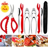 Crab Leg Crackers and Tools - Shellfish Nut Cracker for Nut Stainless Steel Seafood Crackers & Forks Cracker Set
