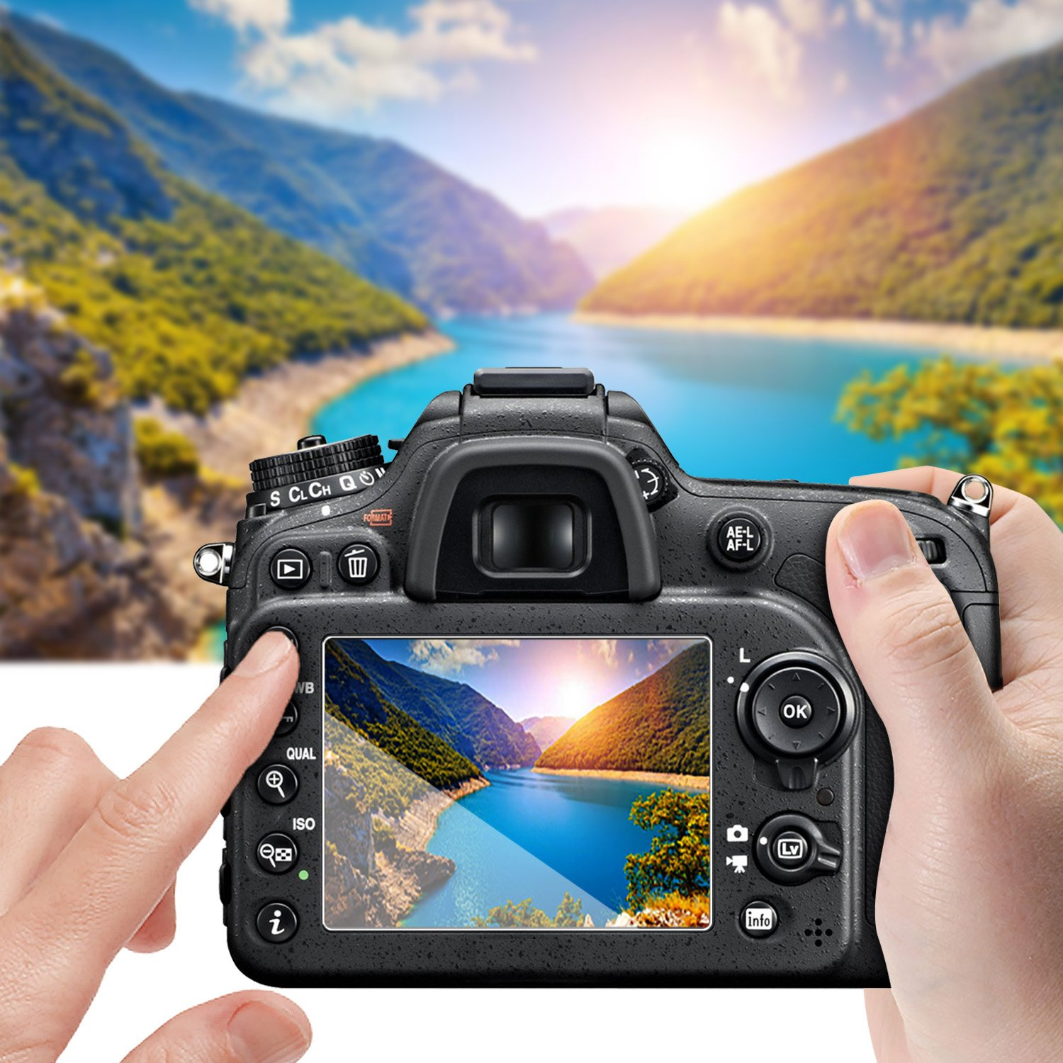 AKWOX 0.3mm 2.5D High Definition 9H Optical LCD Premium Glass Protective Cover 3-Pack Tempered Glass Screen Protector for Canon EOS 5D Mark IV 5D4 5DIV 5DS 5DS R DSLR Camera