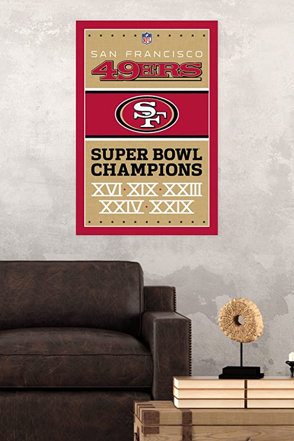 Amazon com trends international san francisco 49ers champions wall poster 22 375 x 34 home kitchen