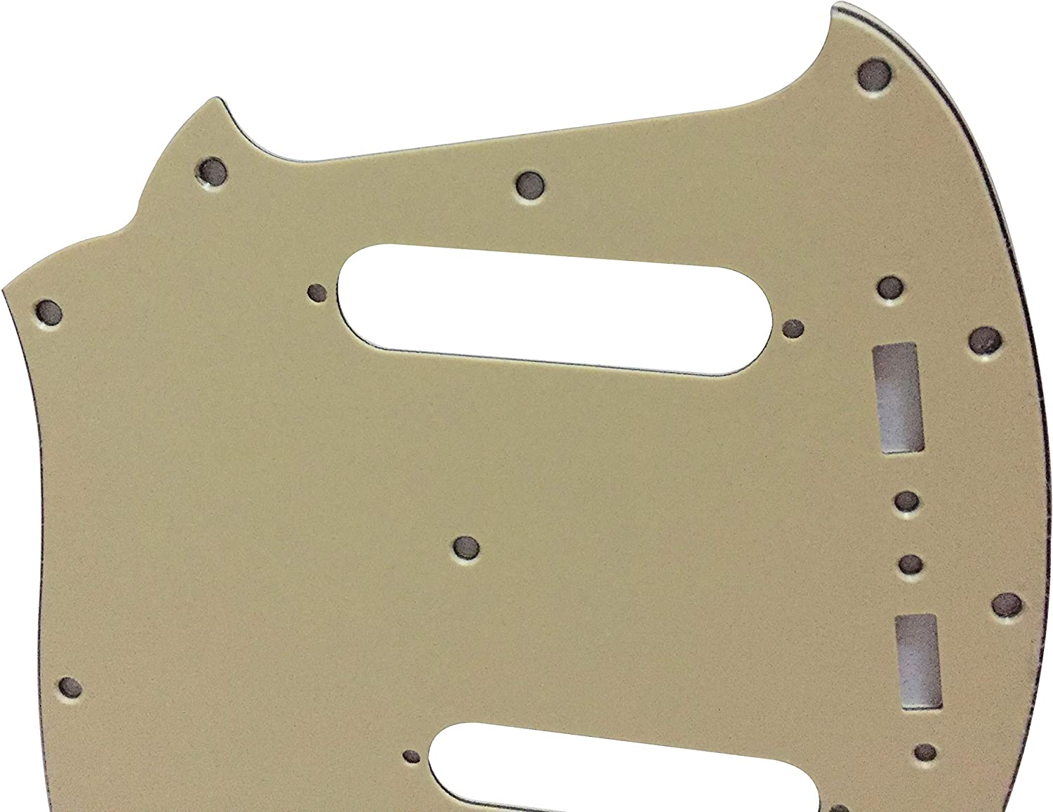 For US Mustang Classic Series Guitar Pickguard Scratch Plate 3 Ply Black