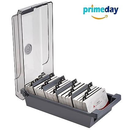 Amazon maxgear business card holder box business card file maxgear business card holder box business card file card storage box organizer large capacity for colourmoves