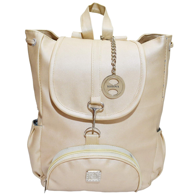 YOTOVA A6 Fancy Stylish Trendy Backpack for Women (Beige)  Amazon.in  Shoes    Handbags f90ff6a968e65