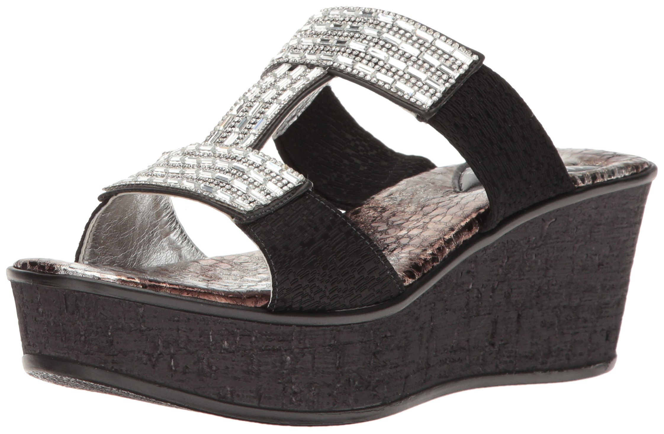 Love & Liberty Women's Sai-Ll Wedge Sandal, Black, 10 M US