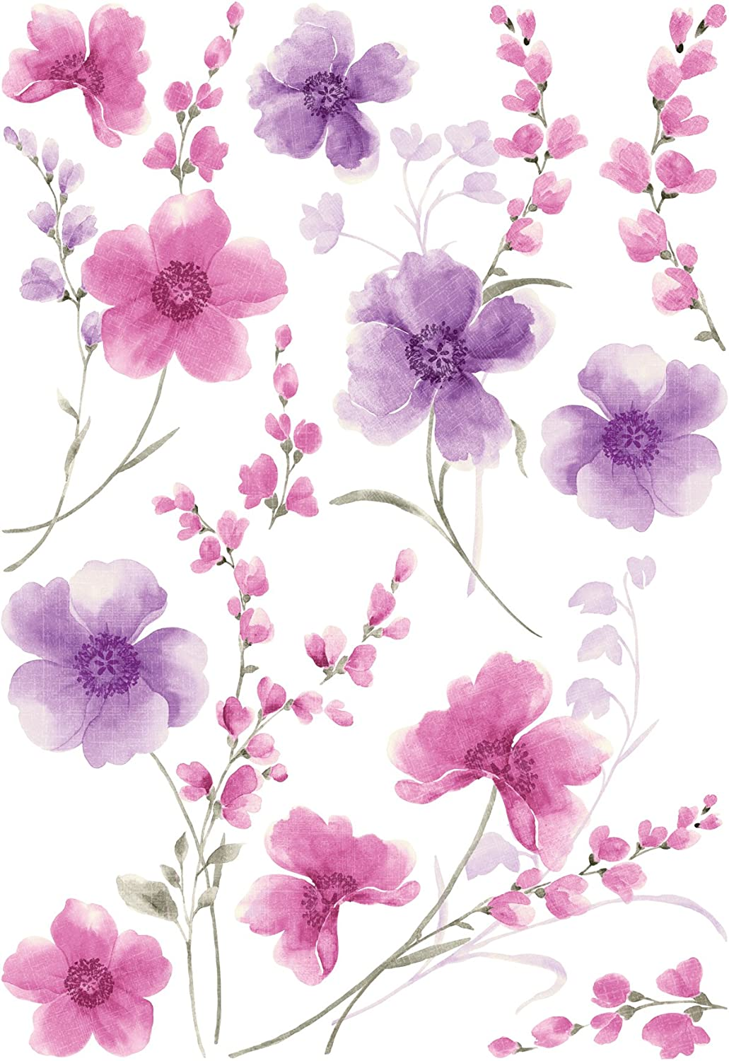 Home Decor Line Spring Flowers Wall Decals