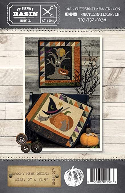HALLOWEEN GATHERINGS WOOLEN BOM QUILTING PATTERN From Buttermilk Basin Designs
