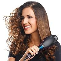 Buyerzone Hair Straightener Comb Brush With Temperature (Set of 1)(Multi Color)