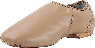 ARCLIBER Leather Slip On Jazz Shoe for Girls Boys (Big Child/Little Child/Toddler)