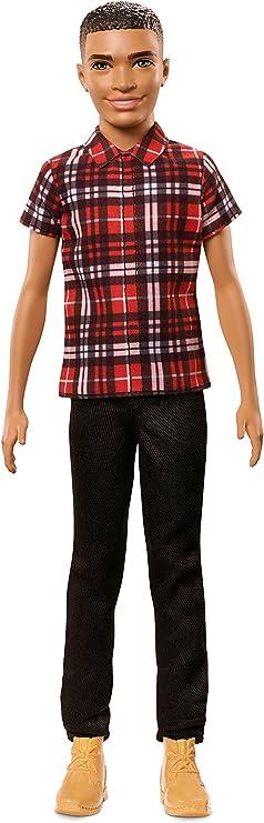 Amazon.es: Barbie Fashionista, muñeco Ken camisa con cuadros rojos (Mattel FNH41): Juguetes y juegos