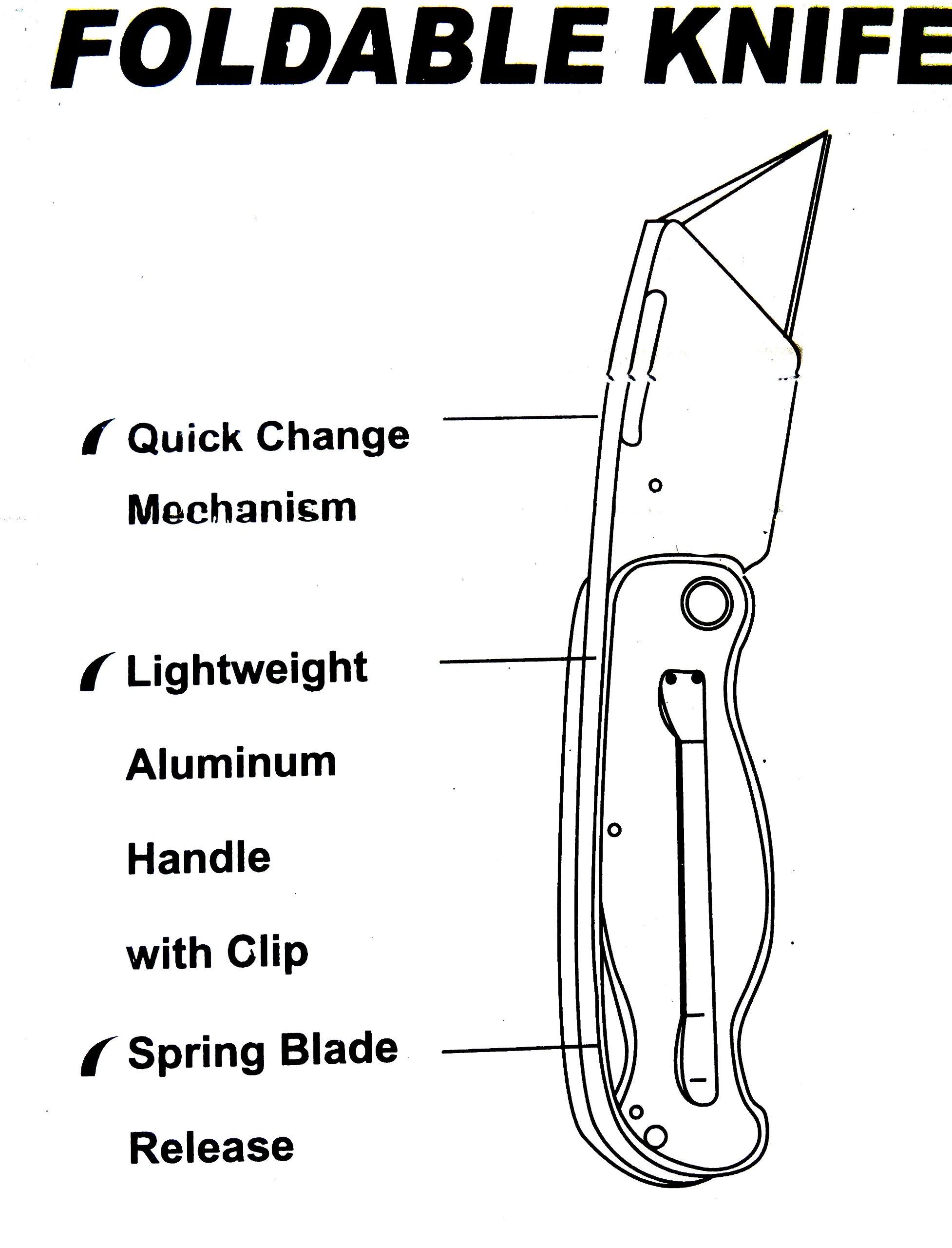 Work Knife,Folding Razor Knife Heavy Duty Box Cutter, Metal Utility Knife