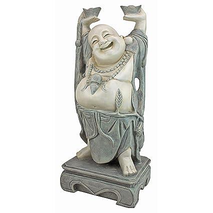 Amazon.com : Design Toscano Jolly Hotei Laughing Buddha Asian Decor ...