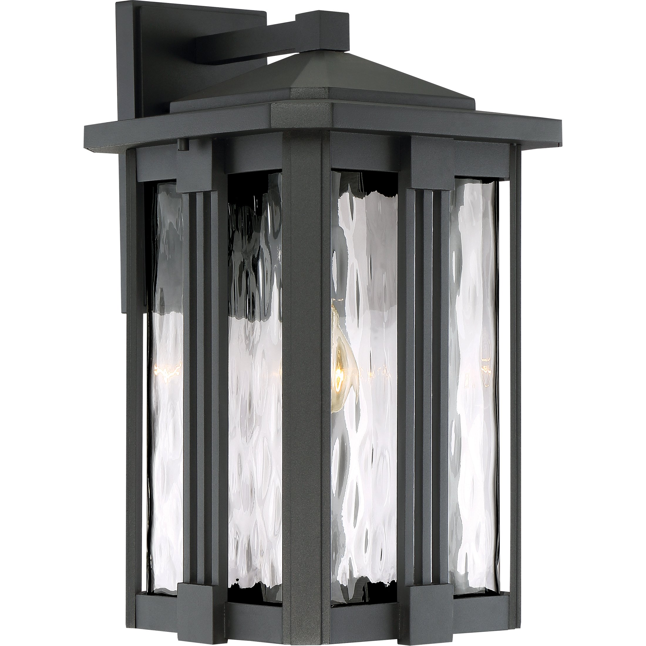 Quoizel One Light Outdoor Wall Lantern EVG8411EK, Large, Earth Black by Quoizel