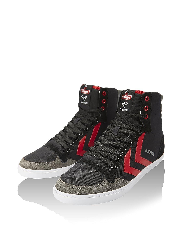 the latest 11318 ead56 Hummel Hightop Sneaker SL Stadil Astra X Hi Schwarz/Rot/Grau ...