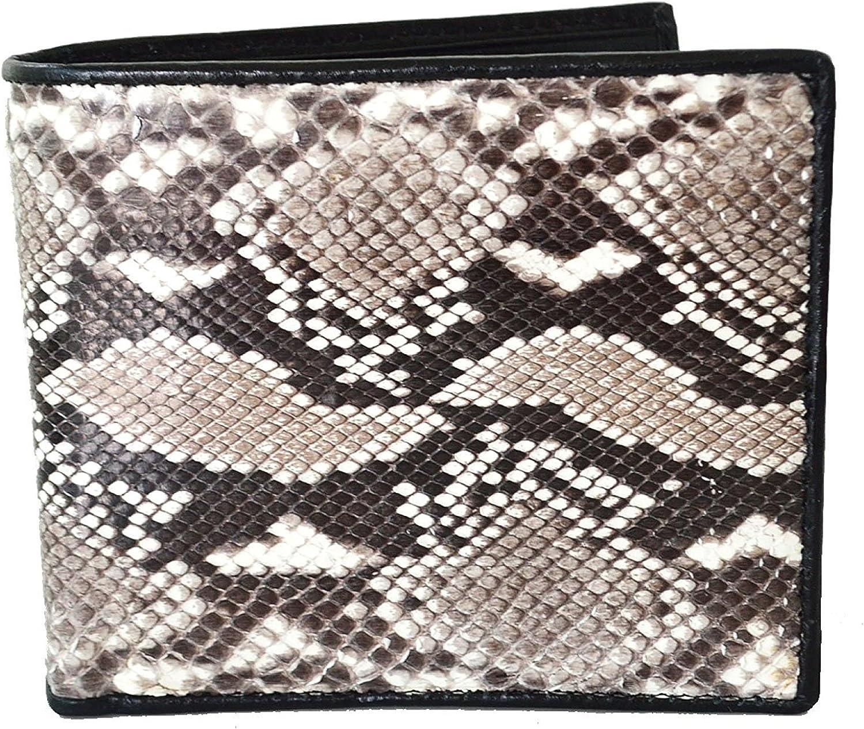 FREE SHIPPING Genuine Python Snake Skin Leather Mens Bifold Wallet Natural