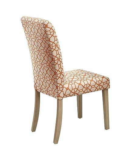 Acme Furniture AC-71909 Dining Chair, Orange & Light Oak