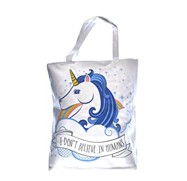 Handy Cotton Zip Up Shopping Bag - Unicorn: Amazon.co.uk: Clothing