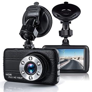 Dash Cam, Full HD 1080P cámara de salpicadero de coche Blackbox coche DVR cámara de