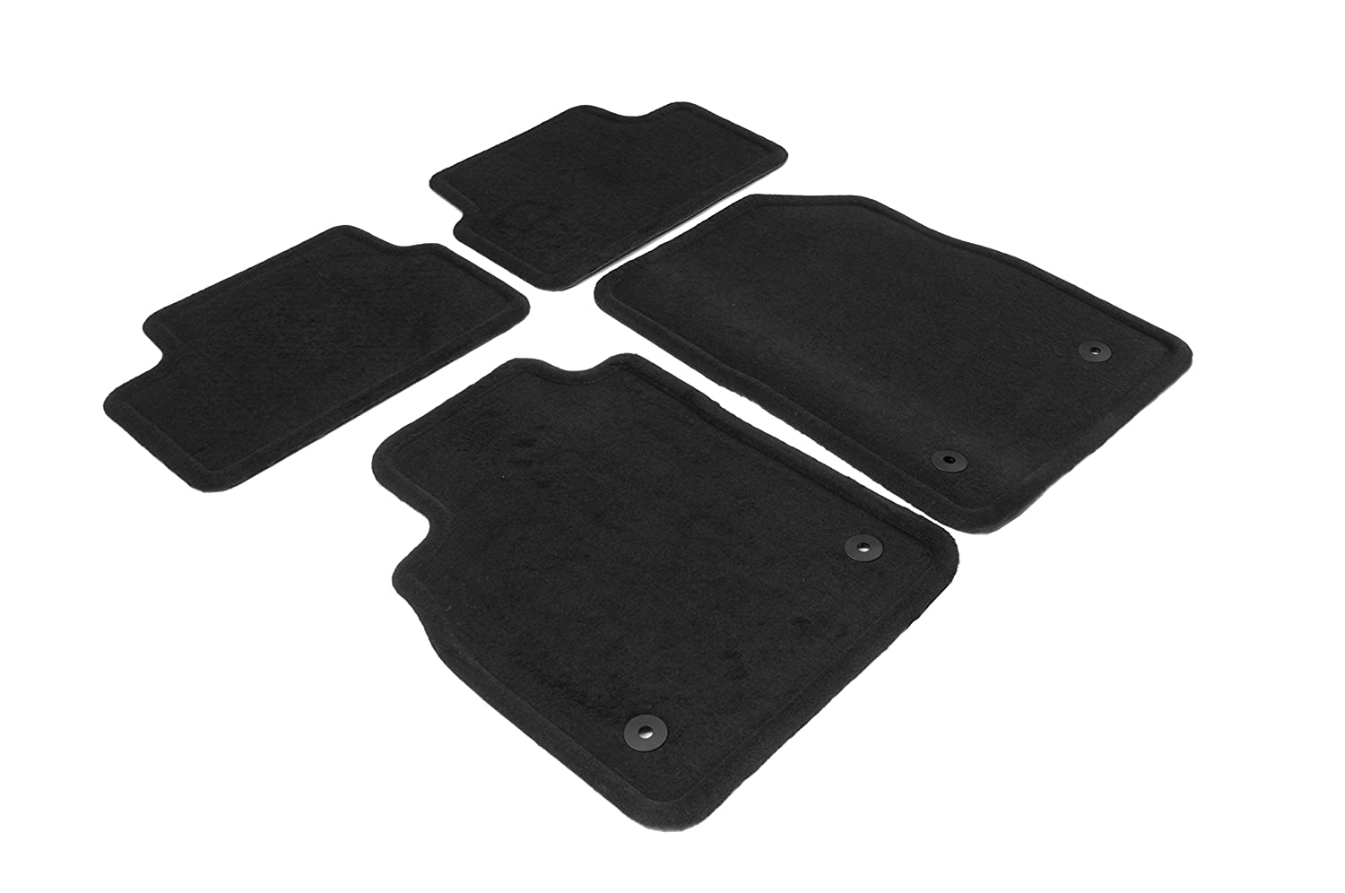 GM Accessories 22878591 Front and Rear Carpeted Floor Mats in Black General Motors