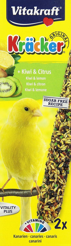 VITAKRAFT Vita Fuerza kanarien Kräcker Kiwi (Pack de 10, 10 x 100 g): Amazon.es: Productos para mascotas