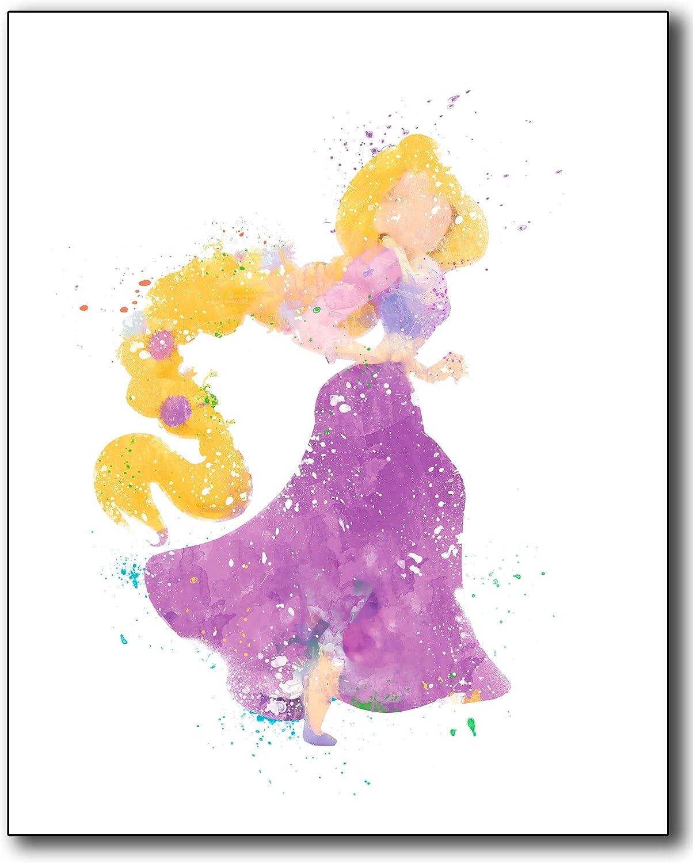 Disney princesses pop surrealism frozen elsa rapunzel snow white cinderella ariel beauty beast pastel art print