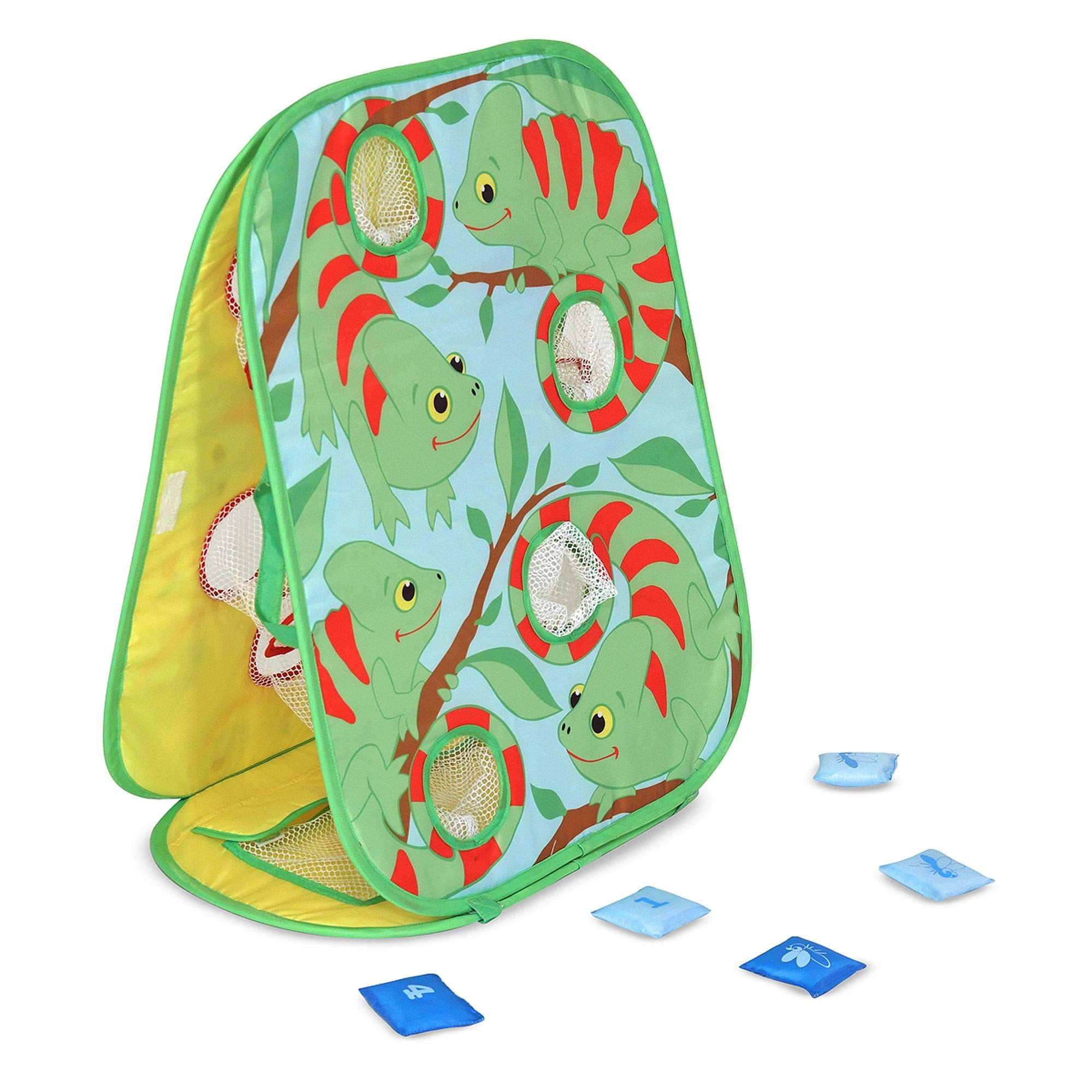 Melissa & Doug Verdie Chameleon Beanbag Toss (Active Play & Outdoor, Double Sided, Two Challenging Games, 8 Pieces, 24.7'' H x 19.7'' W x 0.4'' L) by Melissa & Doug