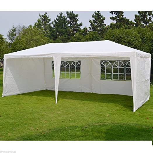 LIVIVO R Extra Large Party Gazebo With 4 Detachable Panels And 2 Visible Windows