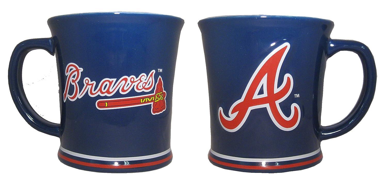The Memory Company Atlanta Braves 15 oz Sculpted Ceramic Coffee Mug