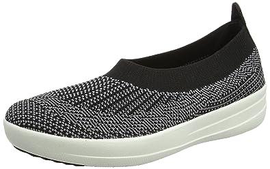 Fitflop »UBERKNIT SLIP-ON« Sneaker, schwarz, schwarz