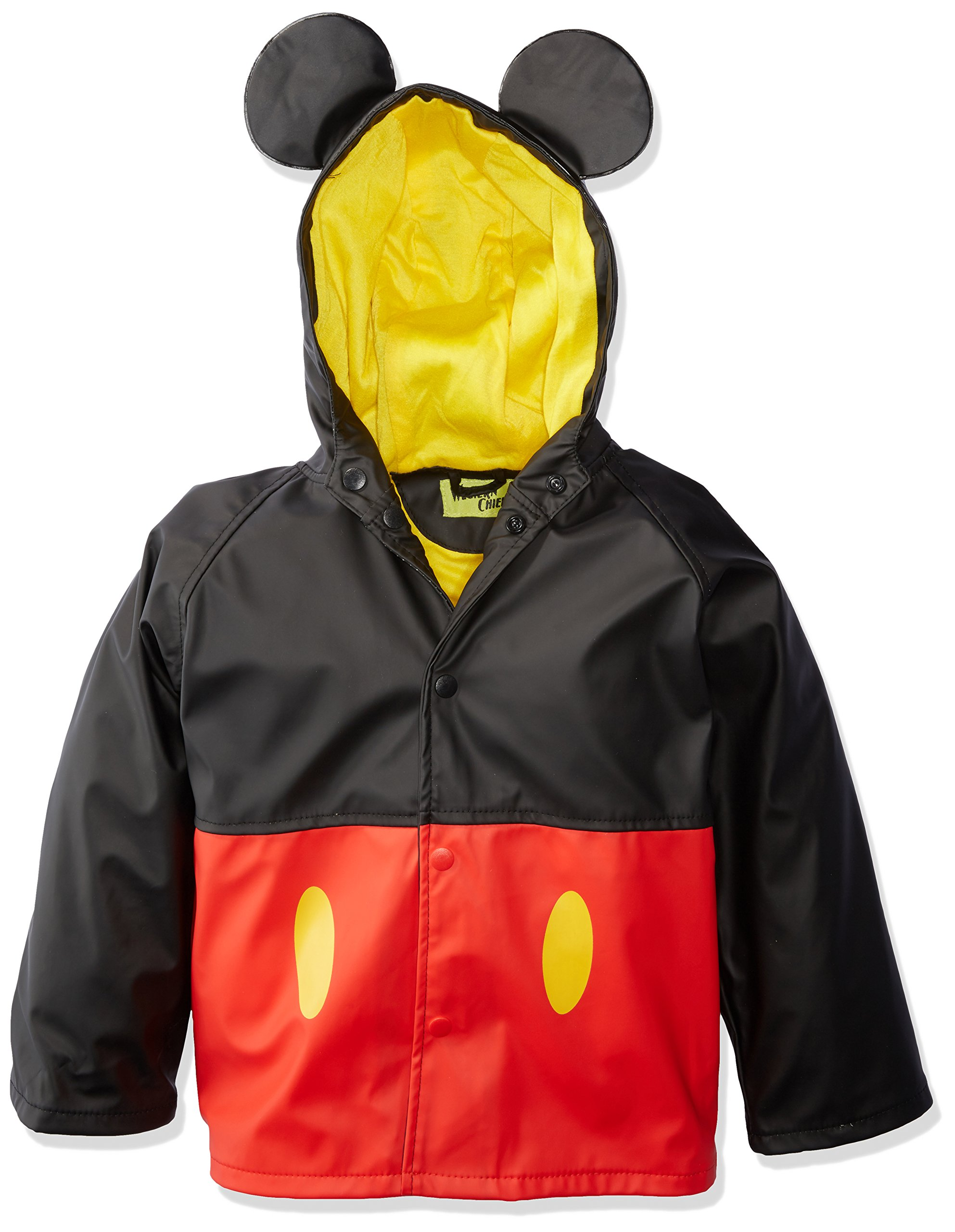 Western Chief Kids Disney Character lined Rain Jacket, Mickey Mouse, 6 by Western Chief