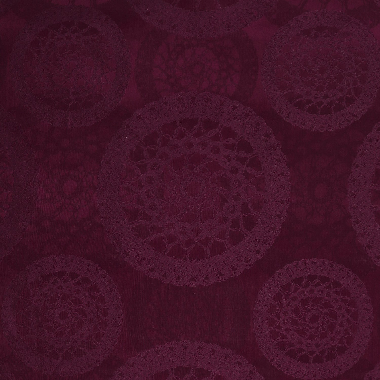 Deconovo Home Decor Jacquard Grommet Curtain with FlowerPattern Panel 52 by 84 Inch 2 Panels Purple
