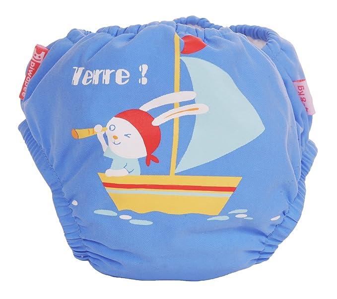 Piwapee - Pañal para nadar con barreras anti fugas Conejo 11-14 KG / 12