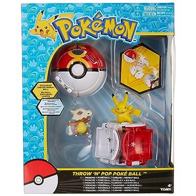 Amazon.com : Tomy Pokemon Throw 'N' Pop Duel Pikachu Pokeball & Cubone Repeat Ball Figure Set : Baby