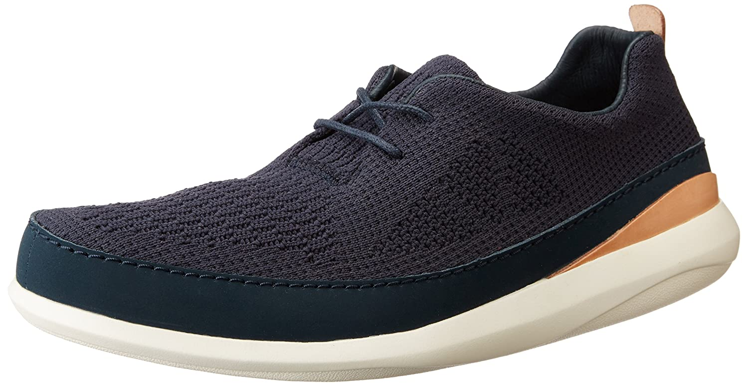 ae8f8d95b Clarks Men s Pitman Run Navy Leather Clogs and Mules - 7 UK India (41 EU)   Buy Online at Low Prices in India - Amazon.in