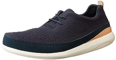 Mens Pitman Run Low-Top Sneakers, Grey, 7 UK Clarks