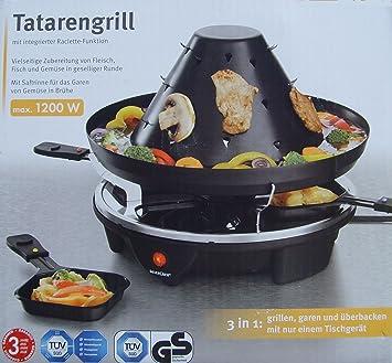 Silvercrest - Combinación de raclette y fondue (para 4 personas, 1200 W, con