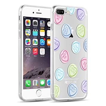 Funda De Silicona iPhone 8 Plus, iPhone 7 Plus Case, JAMMYLIZARD Carcasa Transparente [ Sketch ] Gel Flexible Duradero Resistente Back Cover, ...