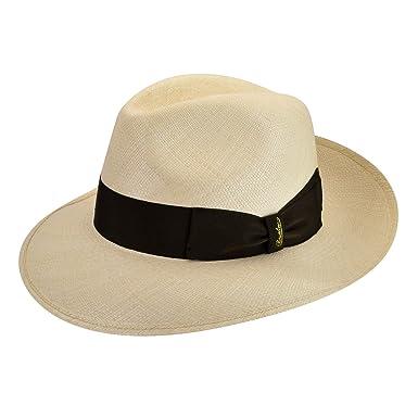 c422ba026d767 Borsalino Male 141088 Quito Panama Large Brim Fedora Natural (Brown Band) 6  7