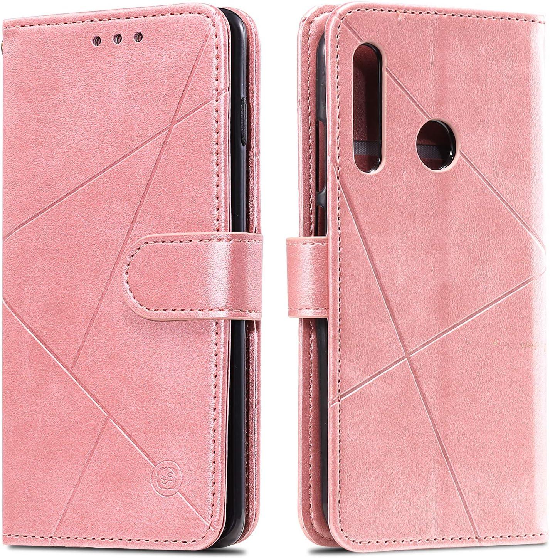 Huphant Compatible for Handyh/ülle Huawei Honor 20 Lite H/ülle Leder Wallet Flip Case Brieftasche Klapph/ülle Kartenf/ächer Geometrische Figur Case for Huawei Honor 20 Lite SchutzH/ülle Braun