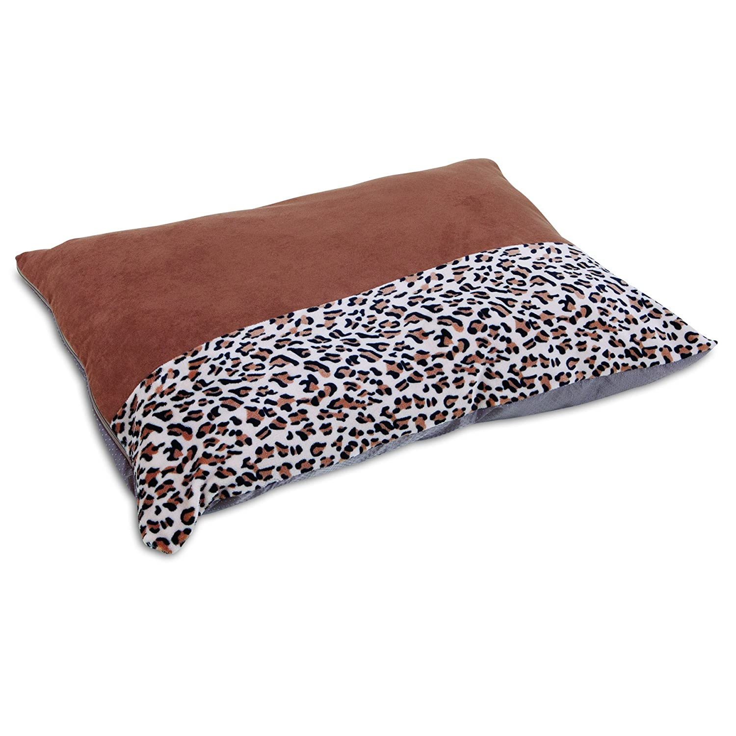 27 X 36 Aspen Pet Animal Print Knife Edge Pillow Bed, 27  x 36 , Brown