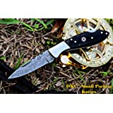 "DKC-58 Little Jay Series Knives Damascus Folding Pocket Knife 4"" Folded 7"" Long 4.7oz oz High Class Looks Hand Made DKC Knives LJ-Series"