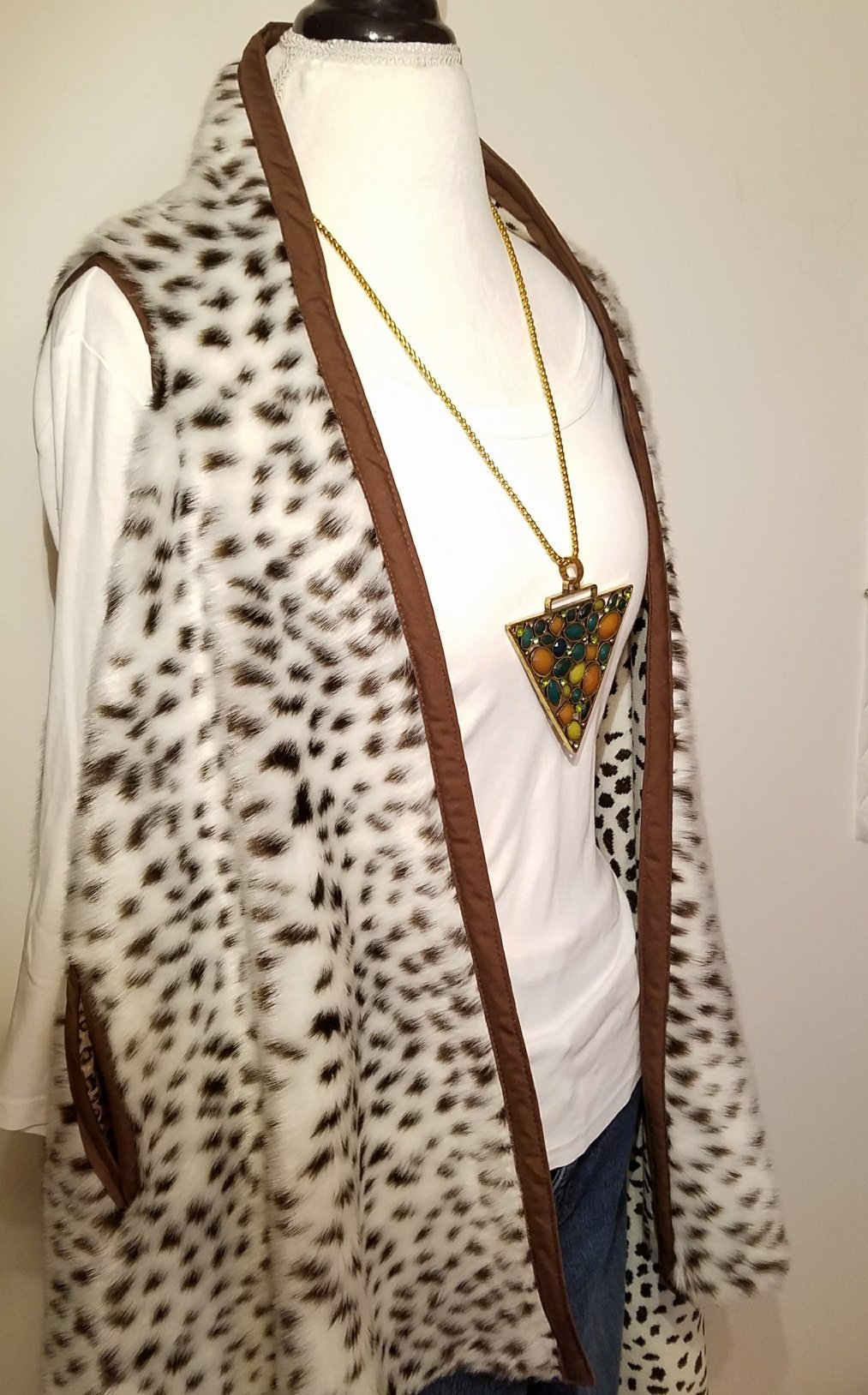 Faux Fur Long Vest HANDMADE IN TEXAS, USA