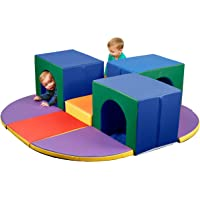 ECR4Kids SoftZone Triple Tunnel Maze, Active Play Corner Climber for Toddlers, Foam Structure for Classrooms, Homes and…