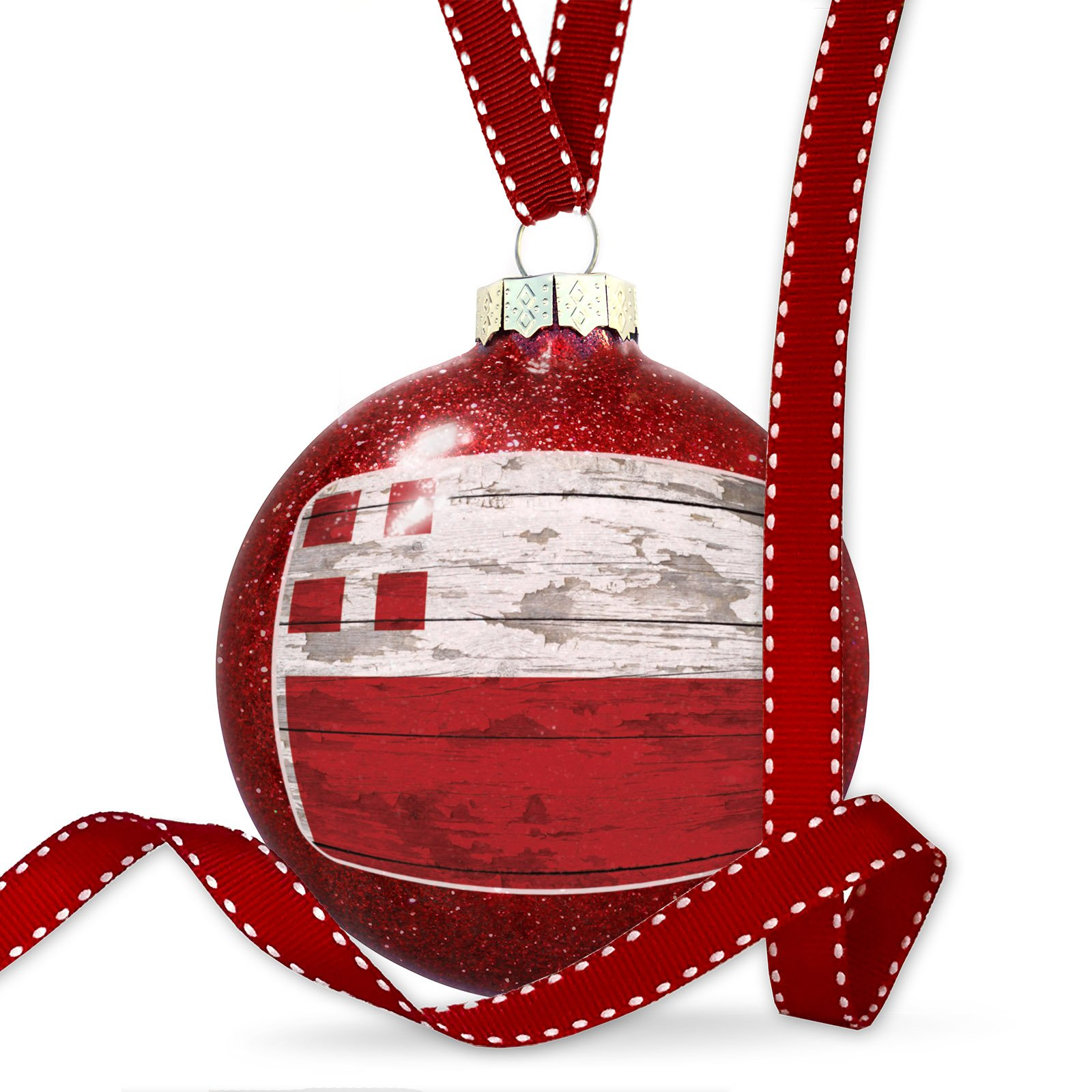 Christmas Decoration Flag on Wood Utrecht region: Netherlands Ornament by NEONBLOND (Image #3)
