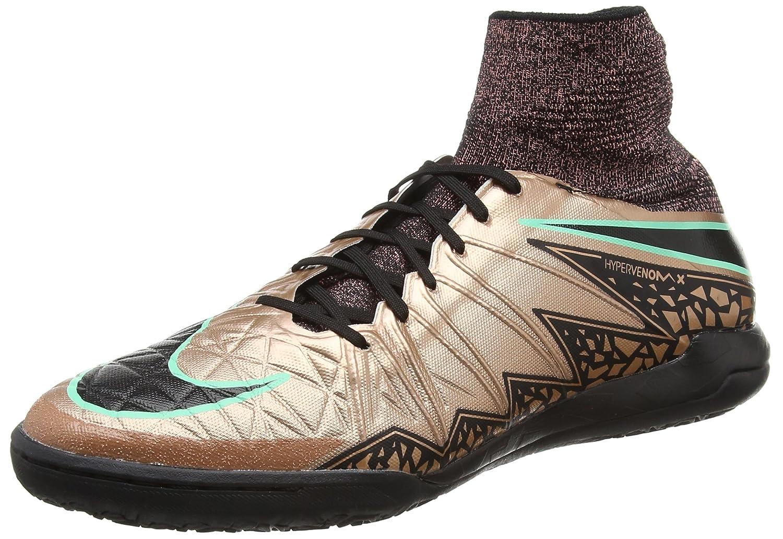 Nike Herren Hypervenomx Proximo IC Fuszlig;ballschuhe, Stealth/Weiss, 44 EU  44 EU Gold / Schwarz / Gr眉n (Mtlc Brnz Rd / Blk-wei?-grn Glw)