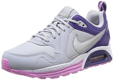 Nike Air Max Trax, Chaussures de running femme - Multicolore (Wlf Grey/Mtlcc Silver), 38.5 EU