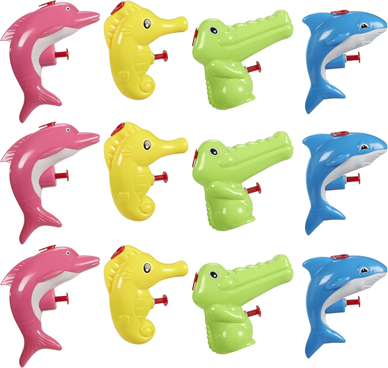 Blue Shark Squirt Gun Plastic Toy Kids Fun Water Games Backyard